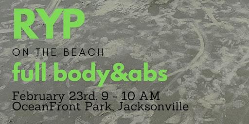 RYP Full Body + Abs on the Beach