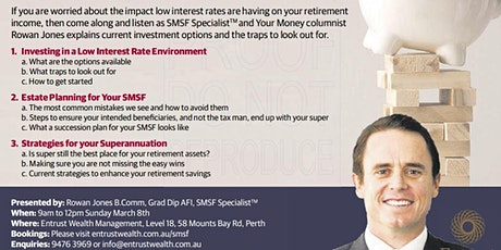 SMSF Master Class (8th March Morning Session) tickets