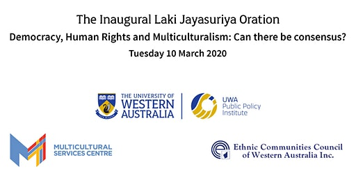 The Inaugural Laki Jayasuriya Oration