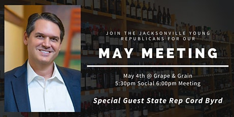 JYR May Meeting: State Rep Cord Byrd! tickets