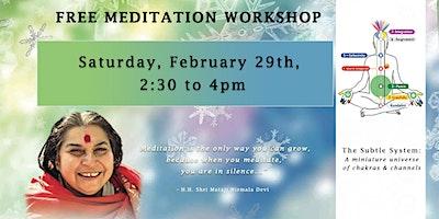 Sahaja Yoga Meditation Workshop (Free)