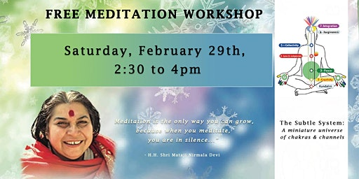 Sahaja Yoga Meditation Workshop (Free)