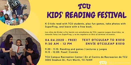 CANCELLED - TCU KIDS' READING FESTIVAL  tickets