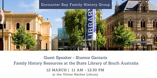 Encounter Bay Family History Group with Stamos Ganiaris
