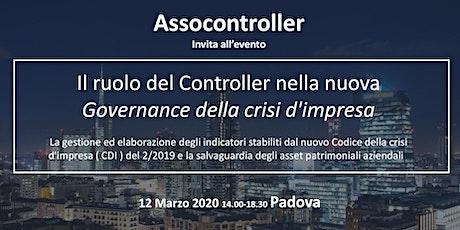 Il ruolo del Controller nella nuova governance della crisi d'impresa biglietti