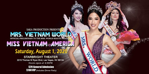 Mrs. Vietnam World and Miss Vietnam of America