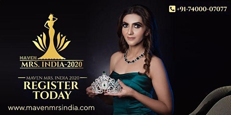 Maven Mrs India 2020 Auditions in Bangalore tickets
