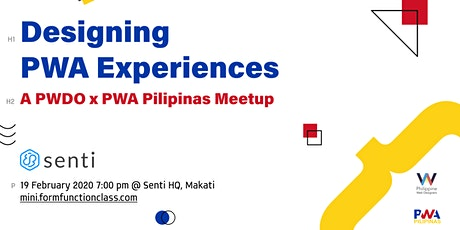 MiniFFC #58: Designing PWA Experiences (A PWDO x PWA Pilipinas Meetup) tickets