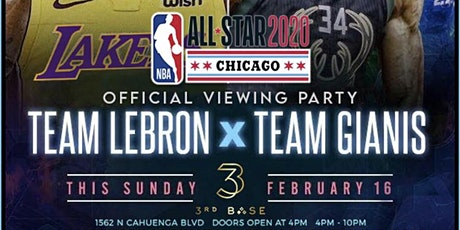 """Sunday Funday @ 3rd Base: NBA All-Star Game Viewing Party Party 180"""" screen tickets"""