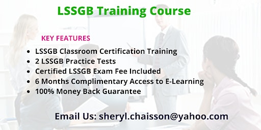 LSSGB Certification Training in Aberdeen Proving Ground, MD