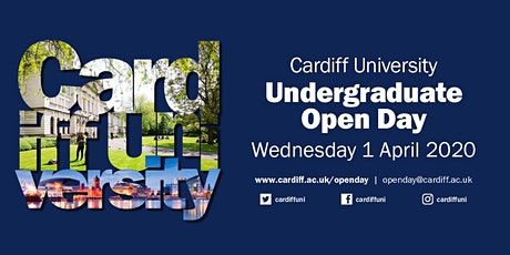 Cardiff University Open Day - Wednesday 1 April 2020 tickets