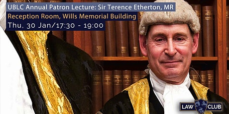 UBLC Annual Patron Lecture: Sir Terence Etherton, MR tickets