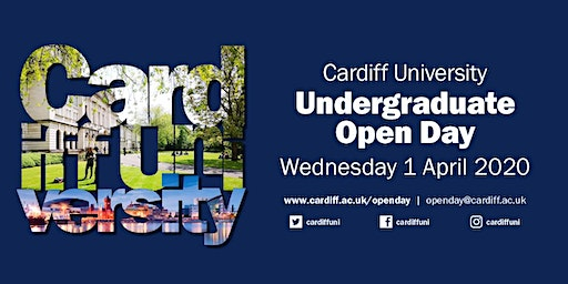 Cardiff University Open Day- Wednesday 1 April 2020 - School Group Bookings