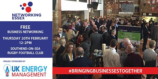 (FREE) Networking Essex Southend Thursday 20th February  12pm-2pm