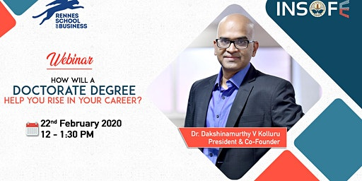 Webinar - How will a Doctorate degree help you rise in your career