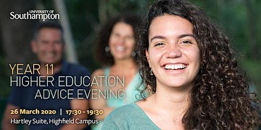 Year 11 Higher Education Advice Evening