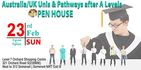 Australia/UK Unis & Pathways after A Levels - Open House tickets