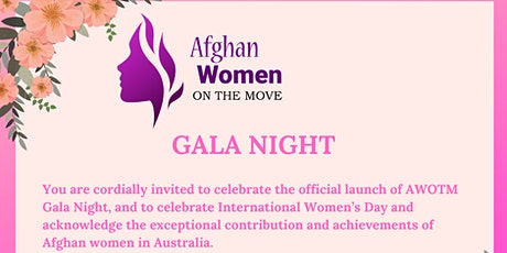 Afghan Women on the Move Inc Gala Night tickets