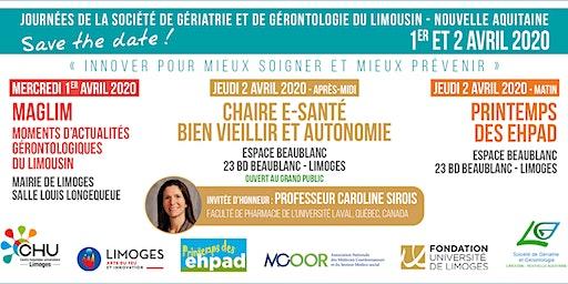 Printemps des EHPAD : Journées de la société de gériatrie et de gérontologie du Limousin - Nouvelle Aquitaine