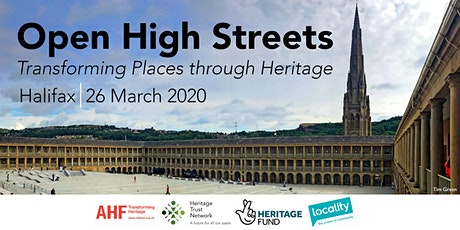 POSTPONED - Open High Streets: Transforming Places through Heritage tickets