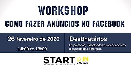 Workshop: Como Fazer Anúncios no Facebook bilhetes