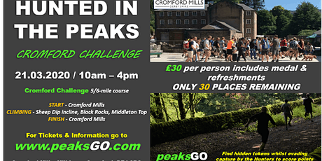 Hunted in the Peaks - Cromford Challenge tickets