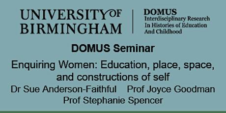 DOMUS Seminar - Enquiring Women tickets