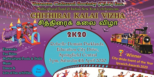 Springfield Multicultural Tamil & Indian New Year Celebrations - Saturday 4th April 2020