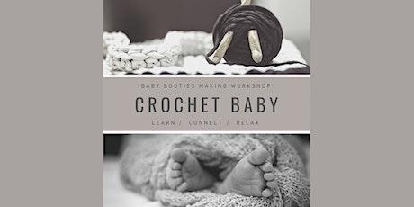 Crochet - Baby. Baby booties making workshop tickets