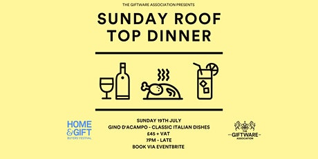 Roof Top Dinner & Drinks - Harrogate Home & Gift tickets