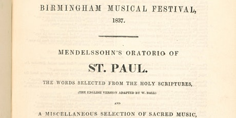 Mendelssohn's oratorios in the W. T. Freemantle Collection tickets