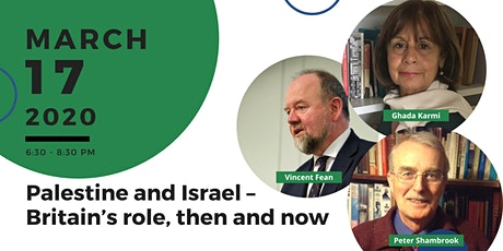 Palestine and Israel – Britain's role, then and now tickets