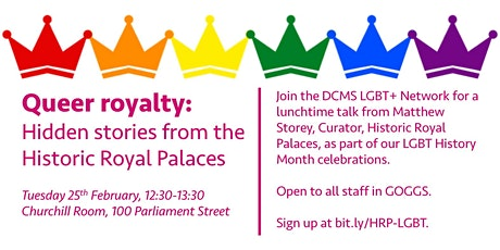 Queer royalty: Hidden stories from the Historic Royal Palaces tickets