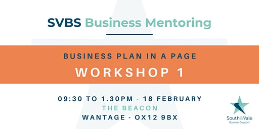 Business Plan on a Page - Workshop 1