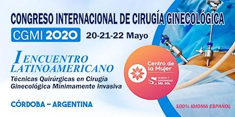 CONGRESO INTERNACIONAL DE CIRUGÍA GINECOLÓGICA -CGMI 2020 entradas