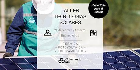 Taller de Tecnologías Solares/ Buenos Aires Febrero 2020 entradas