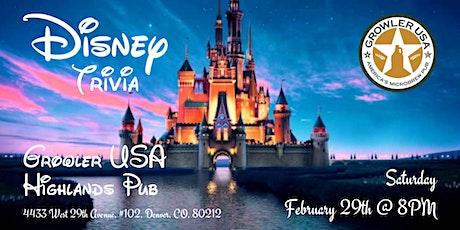 Disney Movies Trivia at Growler USA Highlands Pub tickets