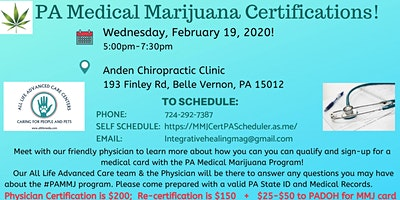 PA MEDICAL MARIJUANA CERTIFICATION & EDUCATIONAL CLINIC BELLE VERNON, PA
