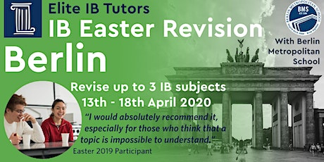 International Baccalaureate Spring Revision Course, Berlin tickets
