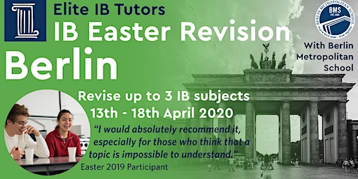 International Baccalaureate Spring Revision Course, Berlin