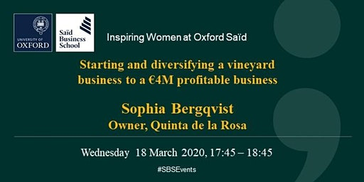 Inspiring Women at Oxford Saïd - Sophia Bergqvist