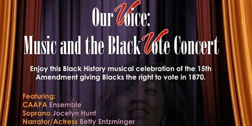 Our Voice: Music and the Black Vote Concert