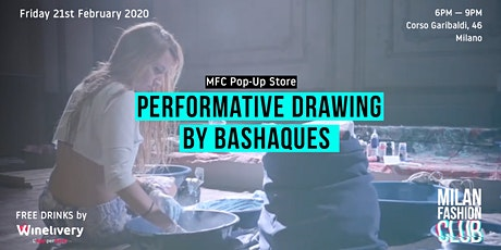 Performative Drawing by Bashaques | Milan Fashion Week biglietti