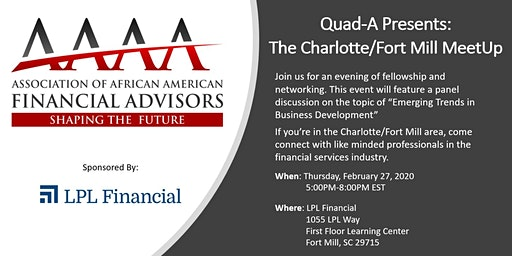Quad-A Presents: The Charlotte/Fort Mill MeetUp