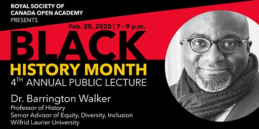 UNB History Department's 4th Annual Black History Month Public Lecture