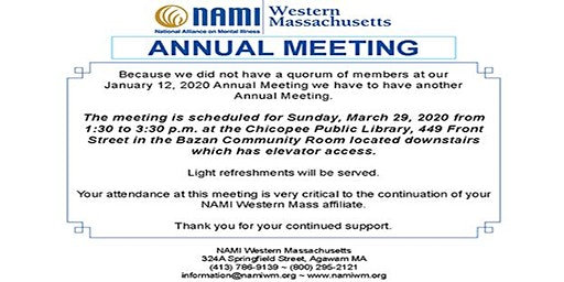 NAMI Western Massachusetts Annual Meeting 2020