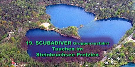 SCUBADIVER und DIVING.BERLIN Gruppenausfahrt - Antauchen am Steinbruchsee Pretzien Tickets
