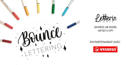 Atelier Bounce Lettering - PARIS 28 MARS 2020 billets