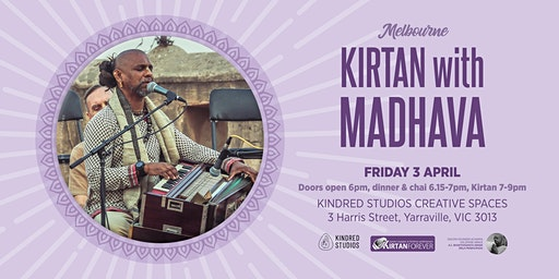 Kirtan with Madhava at Kindred Studios