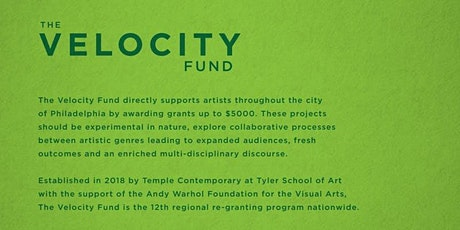 2020 Velocity Fund Remote Information Session [formerly @ University City Arts League] tickets